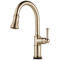 Click here to see Brizo 64025LF-GL Brizo 64025LF-GL Artesso SmartTouch Single-Handle Pulldown Kitchen Faucet - Luxe Gold