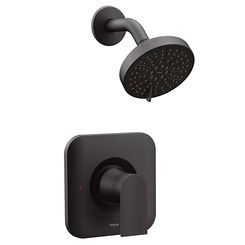 Click here to see Moen T2472EPBL Moen T2472EPBL Genta Posi-Temp Eco Performance Shower Trim, Matte Black
