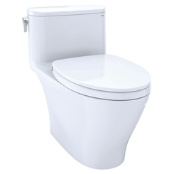 Click here to see Toto MS642124CEFG#01 TOTO Nexus One-Piece Elongated 1.28 GPF Universal Height Toilet with CEFIONTECT and SS124 SoftClose Seat, WASHLET+ Ready, Cotton White - MS642124CEFG#01