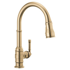 Click here to see Delta 9990-CZ-DST Delta 9990-CZ-DST Broderick One Handle Pulldown Bar Faucet, Champagne Bronze