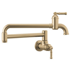 Click here to see Delta 1190LFL-CZ-DST Delta 1190LFL-CZ-DST Broderick Wall Mount Pot Filler, Champagne Bronze