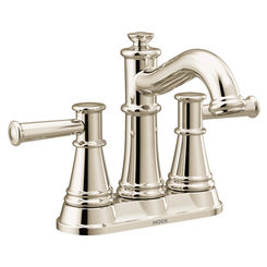 Click here to see Moen 6401NL Moen 6401NL Belfield Two-Handle High Arc Bathroom Faucet, Polished Nickel
