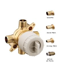 Click here to see Moen U140CXS-PF Moen U140CXS-PF M-CORE Tub/Shower Rough In Valve Prefab, WIRSBO Connection - with Stops