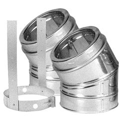 Click here to see M&G DuraVent 9666GAKIT DuraVent 8DT-E30K DuraTech 30-Degree Elbow Kit