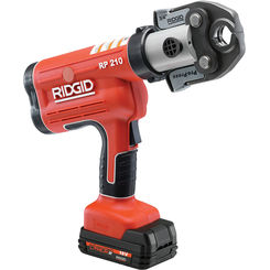 Click here to see Ridgid 31038 Ridgid 31038 Model RP 210-B Battery Operated Pressing Tool With Pureflow Jaws