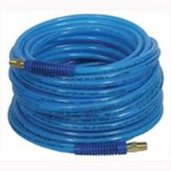 Click here to see Plews 12-50E Plews 12-50E Poly Air Hose, 1/4 in x 50 ft, MNPT, 300 psi, Polyurethane