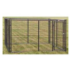 Click here to see Behrens 38140337 Behrens 38140337 Dog Kennel, 5 ft L x 10 ft W x 6 ft H, Powder Coated