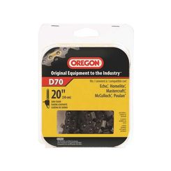 Click here to see Oregon D70 Oregon D70 Premium Replacement Chain Saw Chain, 3/8 in X 20 in