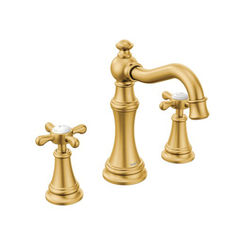 Click here to see Moen TS42114BG Moen TS42114BG Weymouth Two-Handle High Arc Bathroom Faucet, Brushed Gold