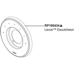 Click here to see Brizo RP100434PC Brizo RpP100434PC Sensori Valve Trim Escutcheon -  Chrome