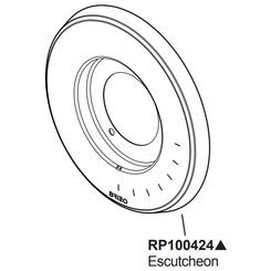 Click here to see Brizo RP100424PN Brizo RP100424PN Levoir Thermostatic Valve Trim Escutcheon - Polished Nickel