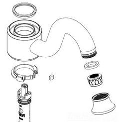 Click here to see Moen 116617NL Moen 116617NL Part Spout Kit, Single Handle Lavatory