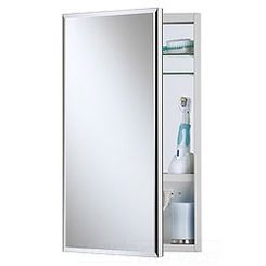 Click here to see Jensen 704301 Broan-NuTone 704301 White Meridian Frameless Medicine Cabinet, 25-1/8