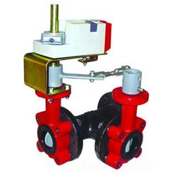 Click here to see Honeywell VFF3TV1YCR Honeywell VFF3TV1YCR 3-Way 18-Inch Resilient Seat Butterfly Valve