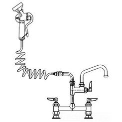 Click here to see T&S Brass PG-8DSAN-06 T&S BRASS PG-8DSAN-06 PET GROOMING FAUCET, DECK 8