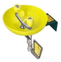 Click here to see Speakman SE-580 Speakman SE-580 Yellow Wall-Mounted Round Eyewash Bowl, 3.18 GPM