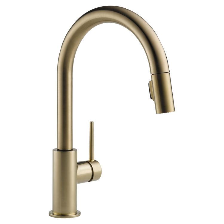 Delta 9159-CZ-DST Delta 9159-CZ-DST Trinsic Series Deck-Mounted Pull-Down Kitchen Faucet