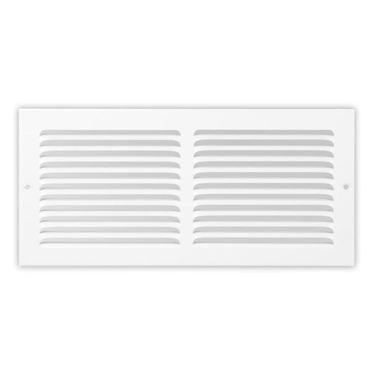 View 2 of Shoemaker 1150-14X6 14x6 Soft White Baseboard Return Air Grille (Steel) - Shoemaker 1150
