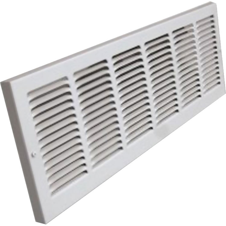 View 2 of Shoemaker 1150-30X8 30x8 Soft White Baseboard Return Air Grille (Steel) - Shoemaker 1150