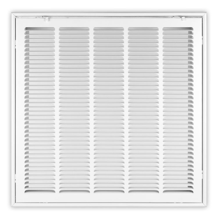 View 2 of Shoemaker FG2-12X25 12X25 Soft White Stamped Face 2 Inches Filter Grille (Steel) - Shoemaker FG2
