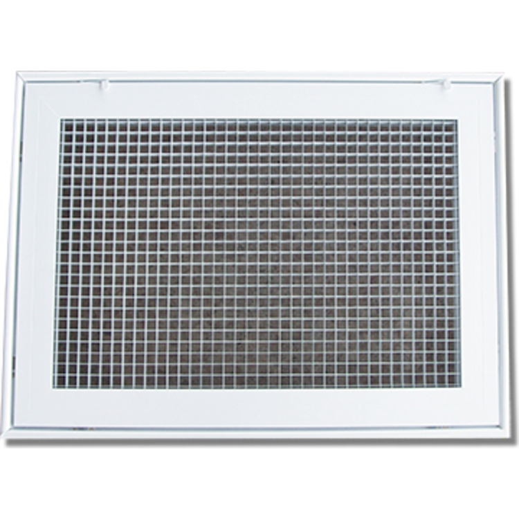 View 2 of Shoemaker 620FG1-12X10 12X10 Soft White Lattice Filter Grille with Steel Frame - Shoemaker 620FG Series