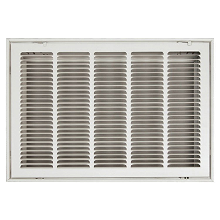 View 2 of Shoemaker FG2-20X18 20X18 Soft White Stamped Face 2 Inches Filter Grille (Steel) - Shoemaker FG2