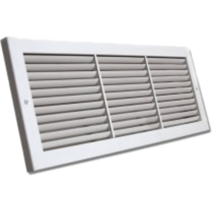 View 2 of Shoemaker 1100FF-26X10 26x10 Soft White Deluxe Baseboard Return Air Grille (Aluminum) - Shoemaker 1100FF