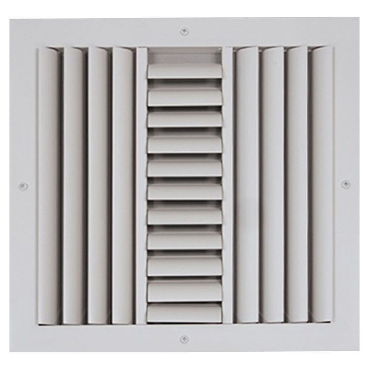 View 2 of Shoemaker CB30-24X8 24X8 Soft White Three-Way Adjustable Curved Blade Diffuser (Aluminum) - Shoemaker CB30