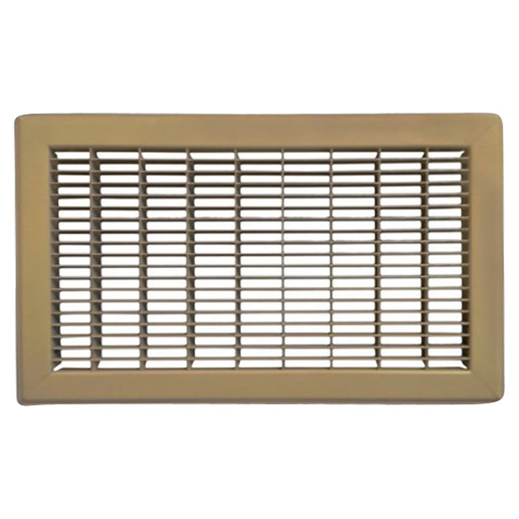 View 2 of Shoemaker 1600-R-18X34 18x34 Driftwood Tan Vent Cover (Steel Honeycomb Construction) - Shoemaker 1600R