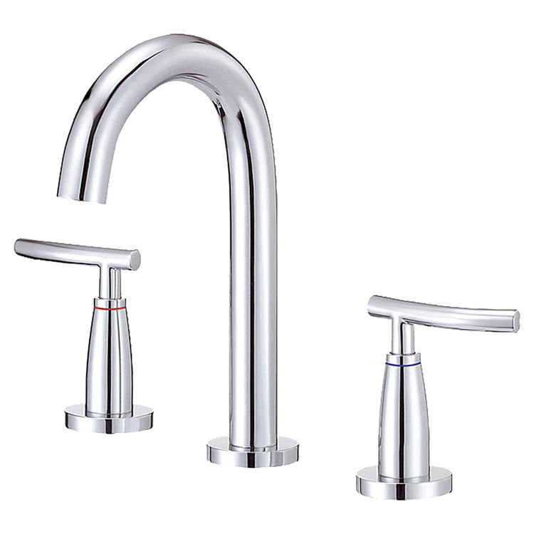 Danze D338154T Danze D338154T Sonora Chrome Two Handle Widespread Faucet With Touch Down Drain