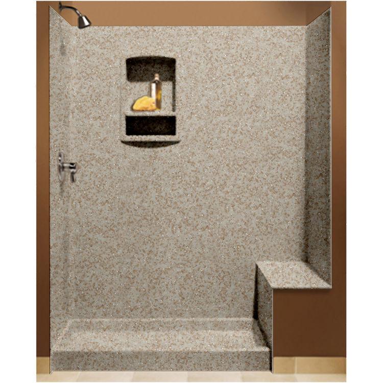 Swanstone Bk 326072 060 Winter Wheat Shower Wall Kit With Floor
