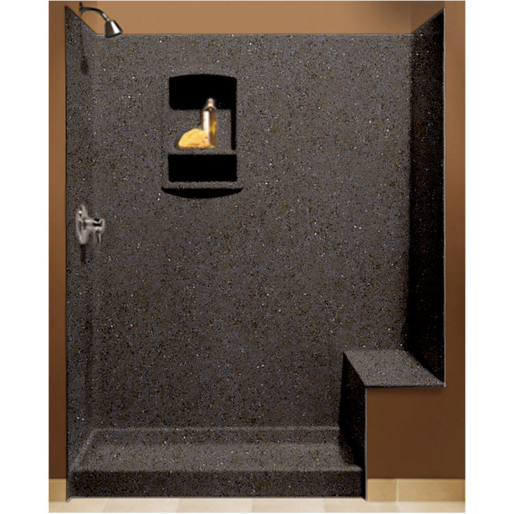 Swanstone BK-326072-124 Canyon Shower Wall Kit With Floor, Wall,