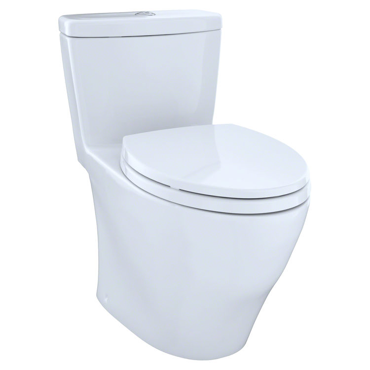 View 2 of Toto MS654114MF#01 Toto MS654114MF#01 Aquia One-Piece Dual Flush Elongated Toilet, 1.6 GPF and 0.9 GPF - Cotton White