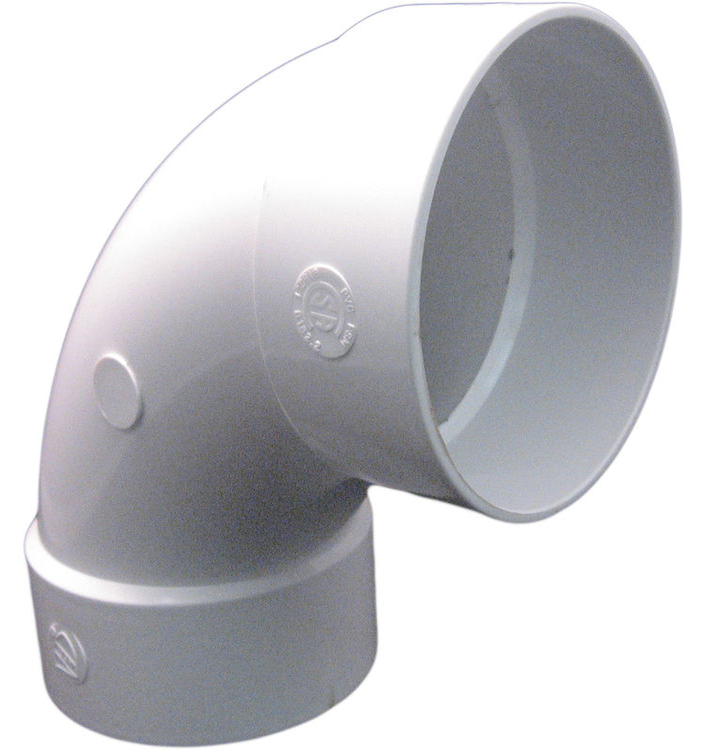 4 Inch Pvc Sewer Amp Drain 90 Degree Elbow Plumbersstock