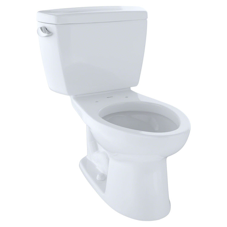 TOTO Drake Two-Piece Elongated 1.6 GPF ADA Compliant Toilet, Cotton ...