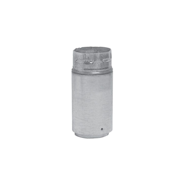 Metal-Fab 4P4A Metal Fab 4P4A 4 Biomass Chimney L Vent Galvanized Adapter (Male Lock)