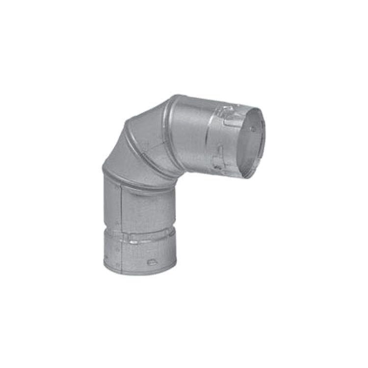Metal-Fab 4P90 Metal Fab 4P90 4 Biomass Chimney L Vent Galvanized 90 Elbow