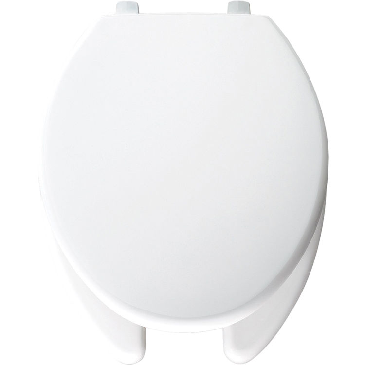 Brilliant Bemis 7850Tjdg 000 White Open Front Elongated Toilet Seat With Cover Creativecarmelina Interior Chair Design Creativecarmelinacom