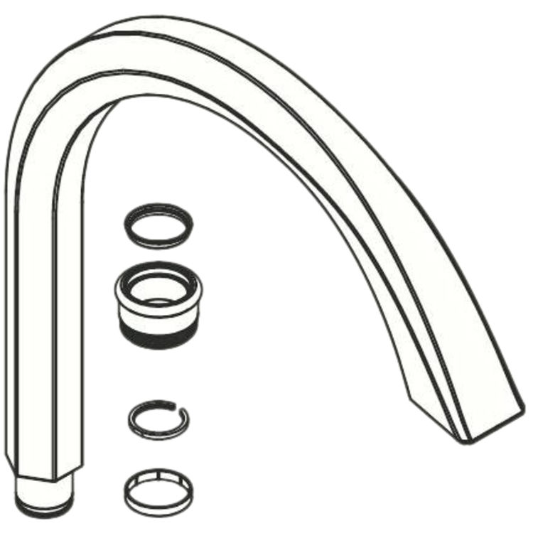 Moen 122575 Moen 122575 Part Spout Kit, 1 Handle Kitchen
