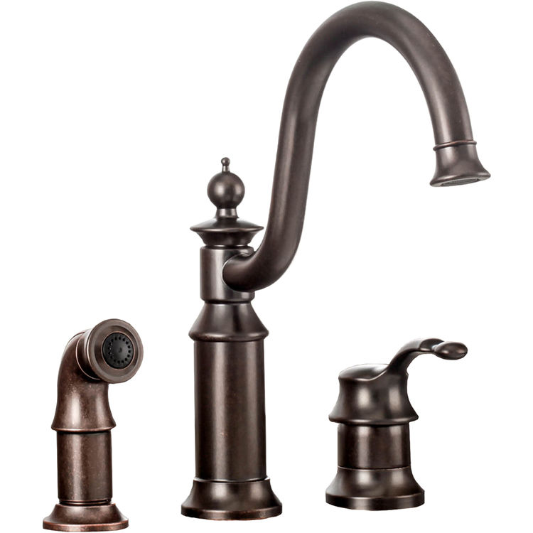 Moen S711ORB Waterhill One-Handle High Arc Kitchen Faucet - Oil ...
