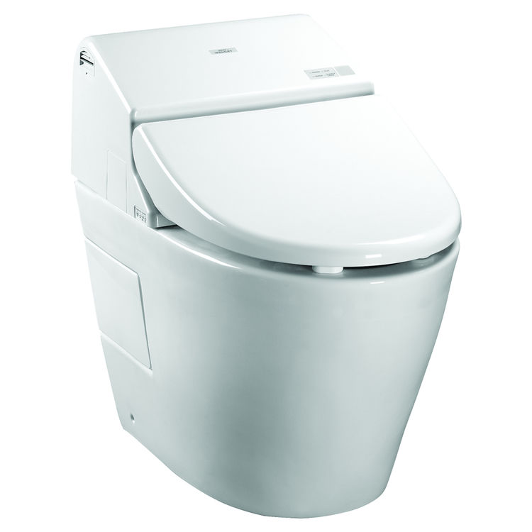 View 2 of Toto MS982CUMG#01 Toto Neorest 550H Dual Flush Toilet - 1.0 or 0.8 GPF, Cotton White - MS982CUMG#01