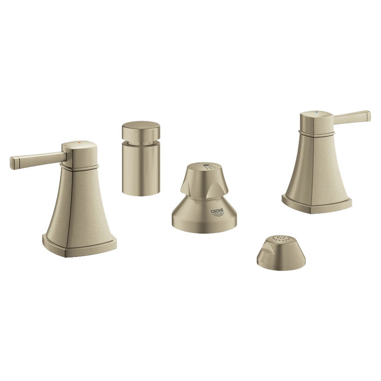 View 2 of Grohe 24034EN0 Grohe 24034EN0 Grandera 2-Handle Bidet Faucet, Brushed Nickel