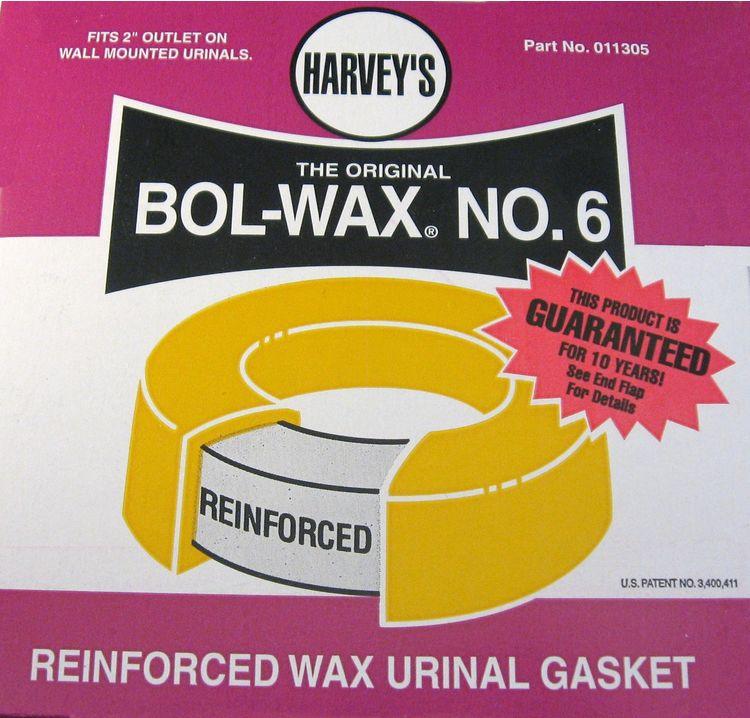 Harvey 11305 Bol-Wax #6 Urinal Gasket Wax Ring