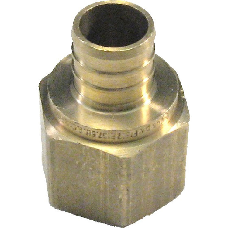 3/4 Inch PEX Female Adapter, Brass Construction