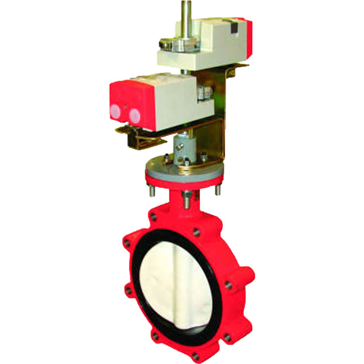Honeywell VFF1HW1YPP Honeywell VFF1HW1YPP 2-Way 3 Inch Resilient- Seat Flanged Butterfly Valve with 50 pounds per square inch differential Close Off