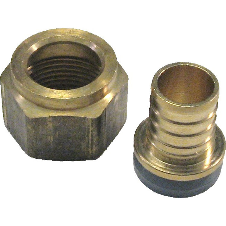 3/4 Inch PEX Female Swivel Adapter, Brass Construction