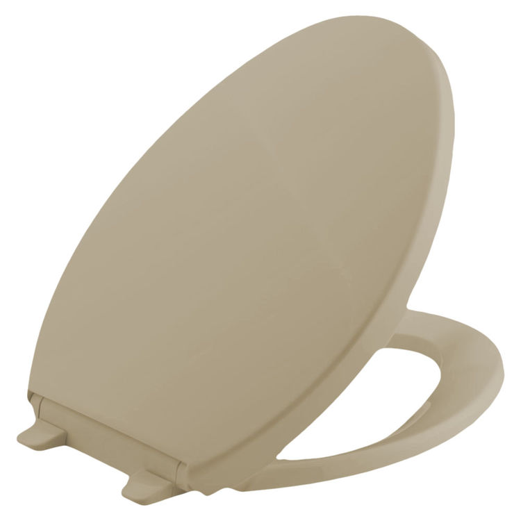 Fantastic Bemis 1800Ec 006 Bone Closed Front Elongated Toilet Seat With Cover Onthecornerstone Fun Painted Chair Ideas Images Onthecornerstoneorg