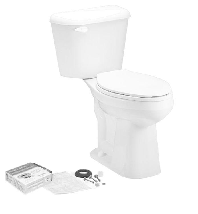 Mansfield 4137LTCTK-WHT Mansfield 4137LTCTK-WHT White Pro-fit 3 ADA Lined Elongated Bowl Toilet