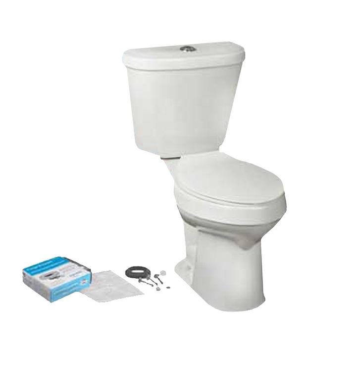 Mansfield 4380CTK-WHT Mansfield 4380CTK-WHT Summit White Dual Flush Round Bowl Toilet