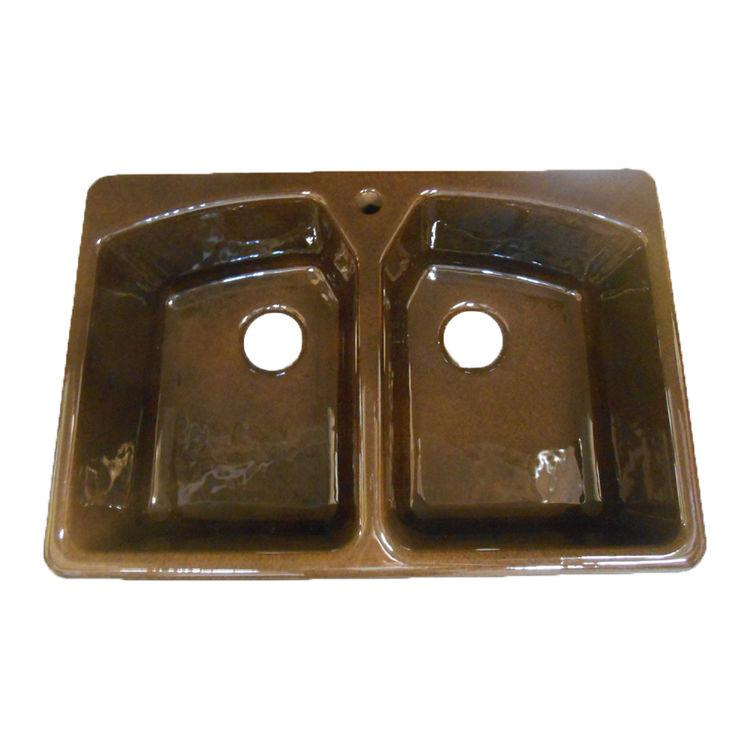 Kohler K-6491-1-KA Self-rimming Kitchen Sink Black & Tan